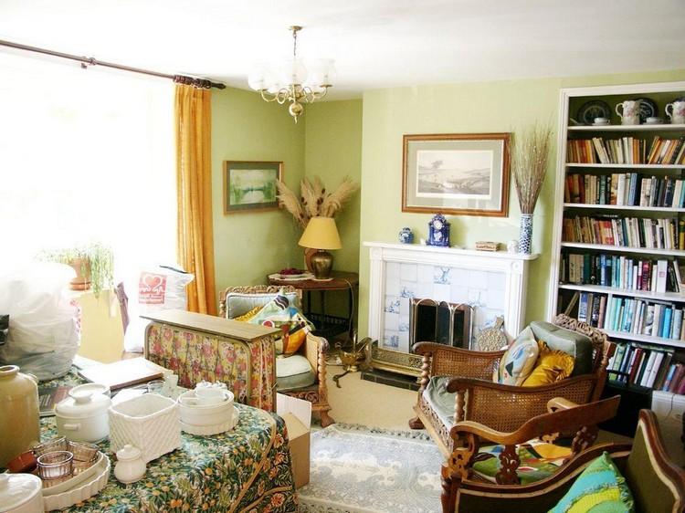Оливковая гостиная: учимся сочетать цвета