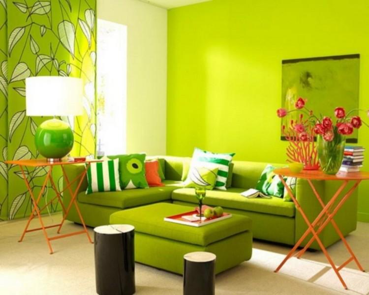 Интерьер в зеленом стиле