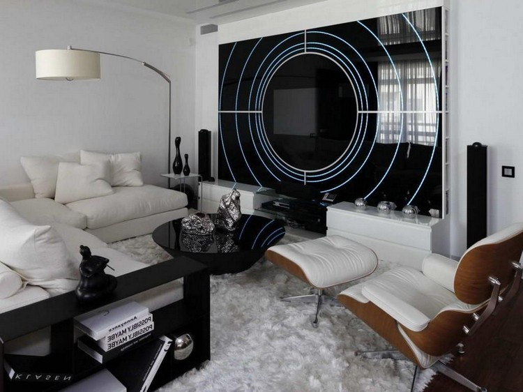 Хай-тек в интерьере гостиной: особенности стиля, ошибки и советы по оформлению (46 фото)