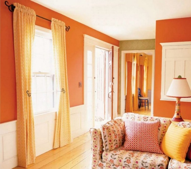 cozy-tangerine-and-white-living-room