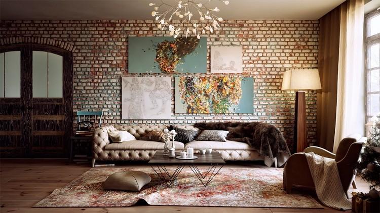 Декор гостиной с помощью рисунков