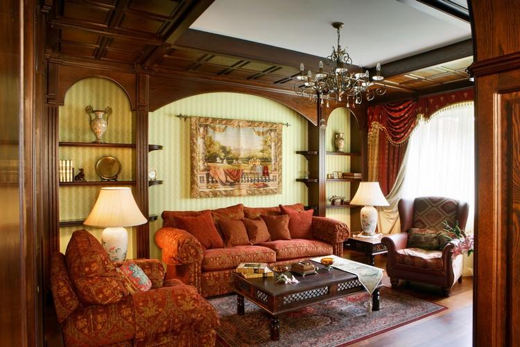 Деревянная отделка английской гостиной
