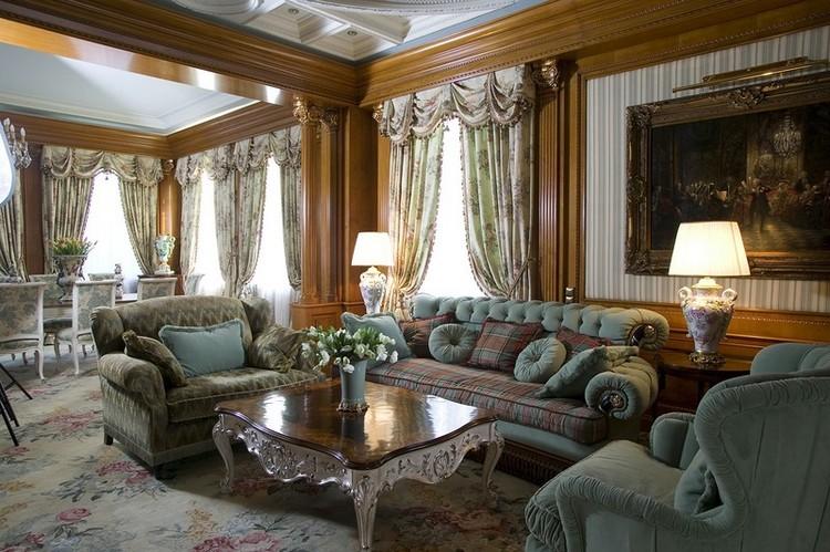Английский стиль в интерьере гостиной: благородные британские традиции в оформлении комнаты (30 фото)