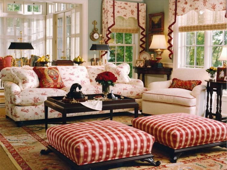Английский кантри стиль в оформлении гостиной