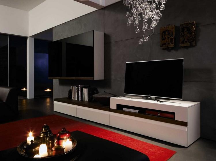 Современный интерьер с тумбой под телевизор