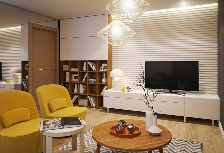3D панели в интерьере гостиной: особенности объемного рельефа в оформлении + 52 фото-дизайна
