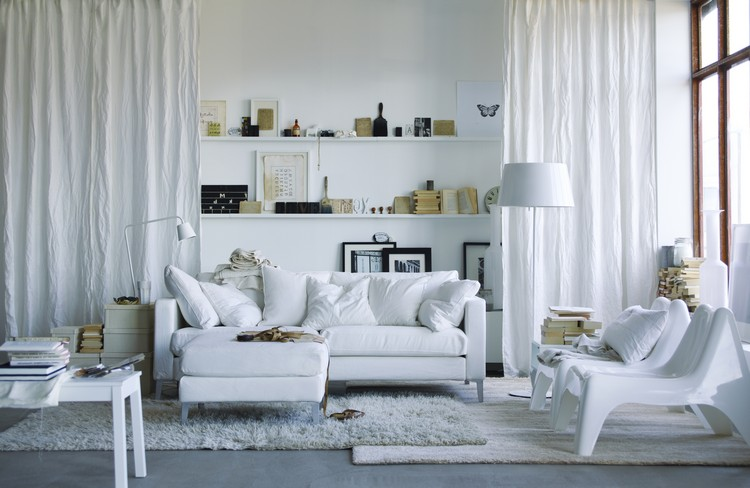 Белая мебель в интерьере гостиной: модная тенденция оформления + 57 фото примеров