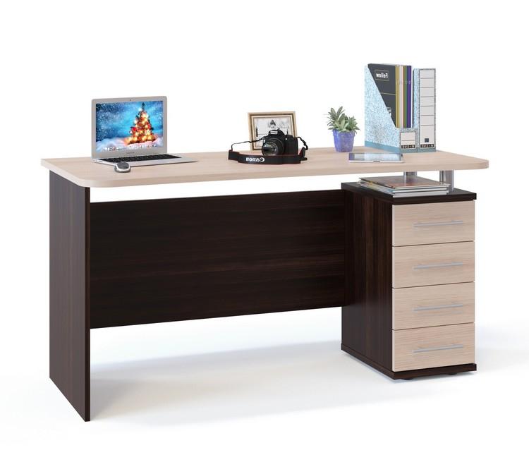Купить стол письменный соло вариант 5 (венге/беленый дуб) в .