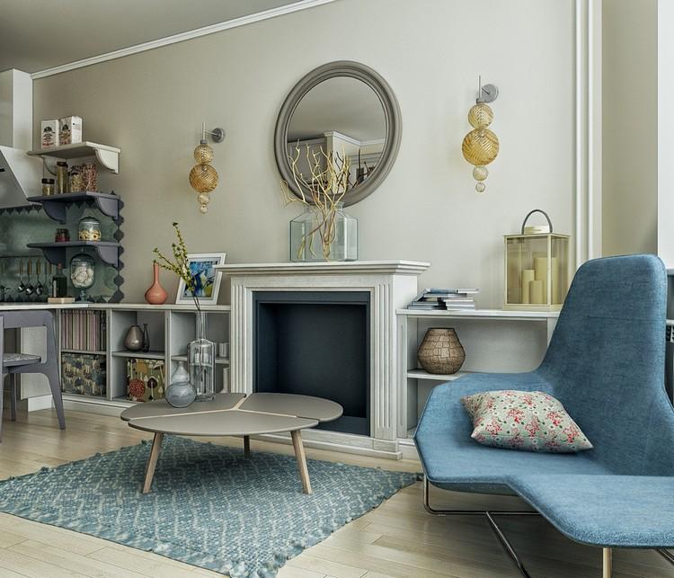 Фотогалерея: круглое зеркало в гостиной — поймай свое отражение в стильном декоре (60 фото)