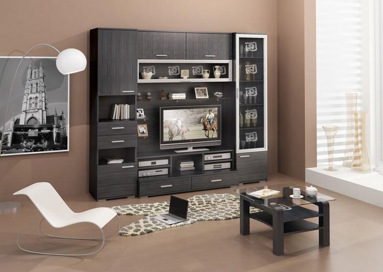 Мебель венге в интерьере гостиной: аристократическое украшение комнаты в 60 фото