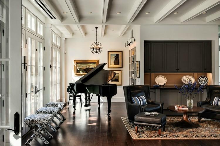 Пианино в интерьере гостиной: как обычный музыкальный инструмент превратить в арт-объект + 40 фото