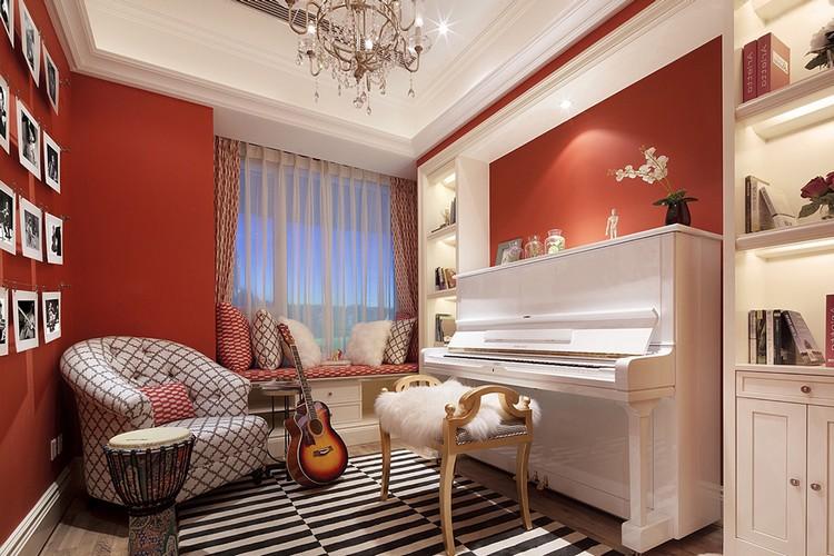 Гостиная с пианино дизайн 190