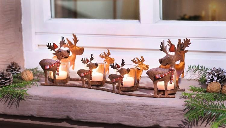 Лось и олень в новогоднем декоре гостиной (27 фото)