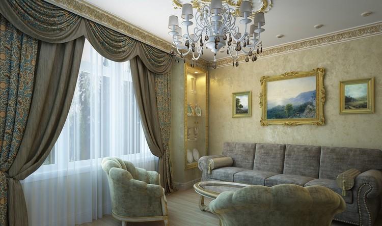 Венецианская штукатурка в интерьере гостиной: оригинальные идеи отделки комнаты для приема гостей + 55 фото