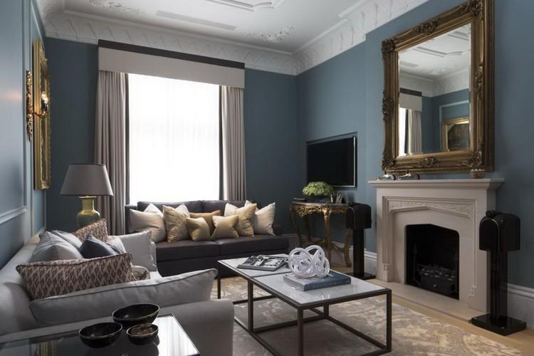 Красивые камины в дизайне гостиной (55 фото)