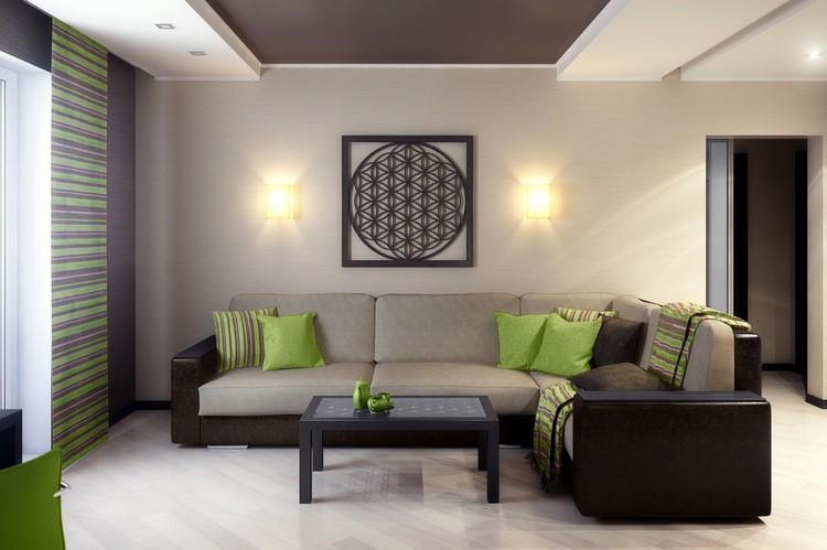 Módna farba stien v obývacej izbe