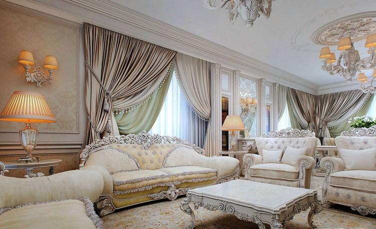 Фото полукалонн в гостиной