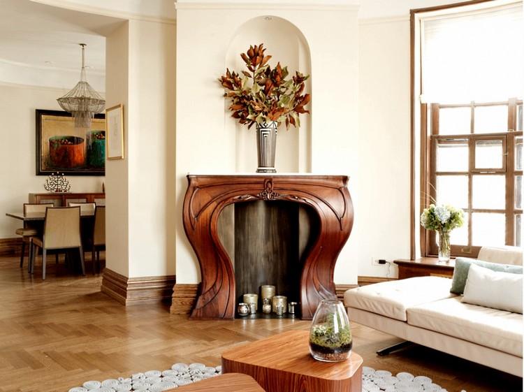 Стиль модерн в интерьере гостиной: особенности дизайна, отделка и аксессуары (50 фото)