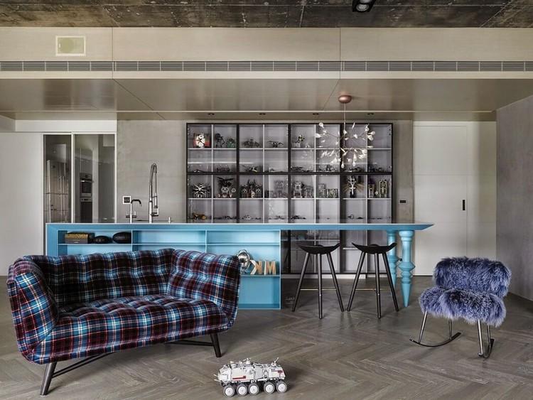 Барная стойка в гостиной: несколько дизайнерских приемов по оформлению главной комнаты в доме (50 фото)