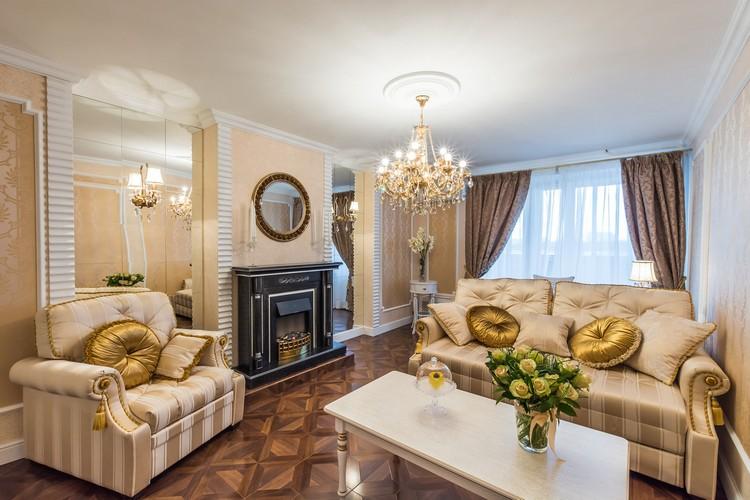 Бежевая гостиная: дизайн, сочетание цветов, стили и фото интерьеров (40 фото)
