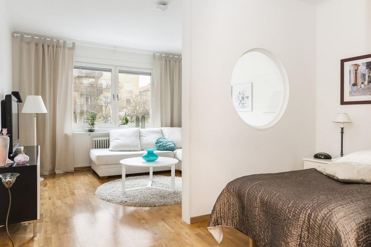 Дизайн гостиной совмещенной со спальней: планировка, зонирование и выбор мебели для дизайна (40 фото)