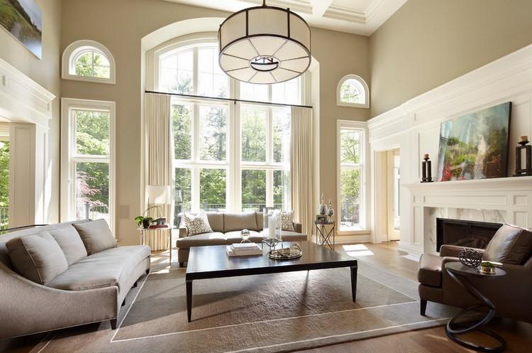 Окно в гостиной: как правильно оформить и украсить оконные проемы в дизайне зала ( 45 фото)