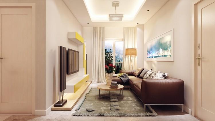 Дизайн маленькой гостиной: идеи обустройства малогабаритной комнаты (55 фото)