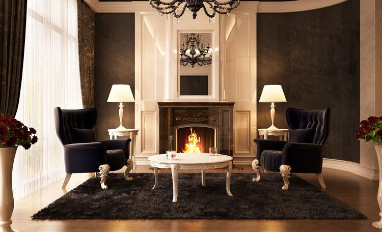 Темная гостиная: идеи и секреты правильного дизайна главной комнаты (50 фото)