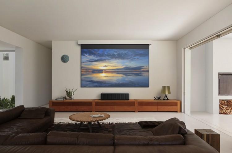 Домашний кинотеатр в гостиной: как оформить место для просмотра кино в общей комнате (35 фото)