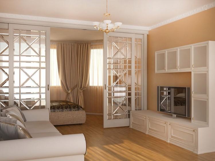 Гостиная с балконом: варианты оформления дополнительной комнаты в гостиной (55 фото)