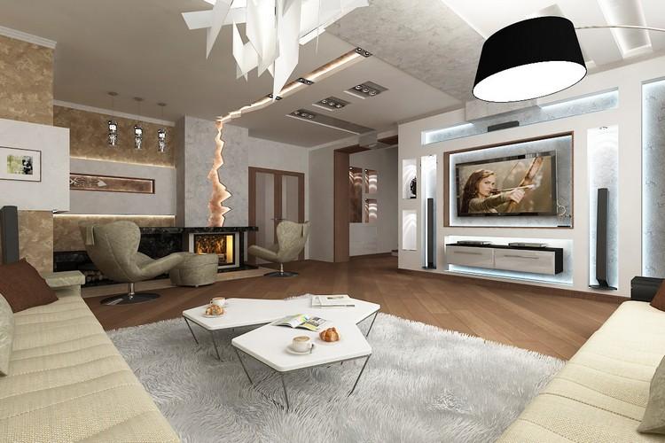 Гостиная с камином: секреты дизайна, примеры размещения и идеи для декора каминной зоны(40 фото)