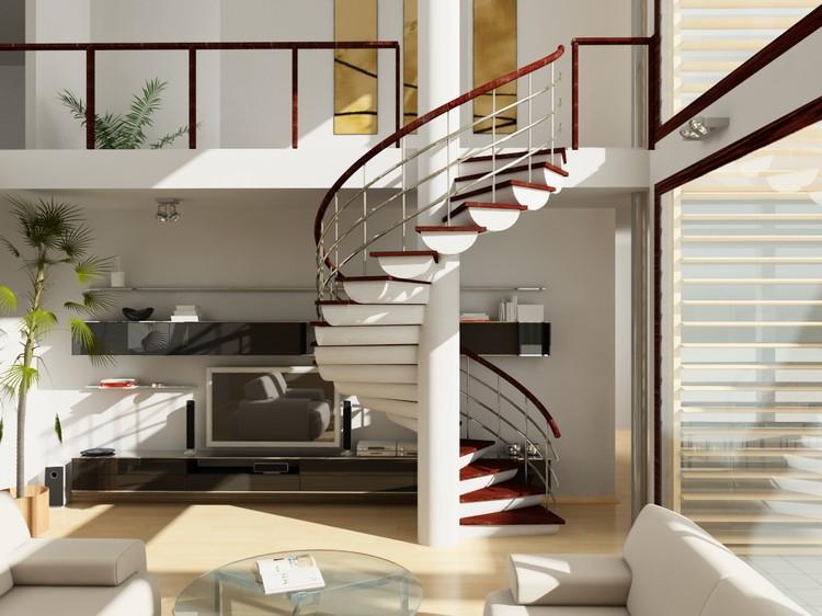 Гостиная с лестницей на второй этаж: особенности оформления и рекомендации (27 фото)