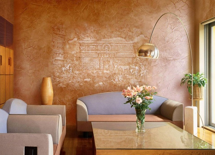 Стены в гостиной: идеи отделки, выбор обоев и элементы стильного декора (55 фото)