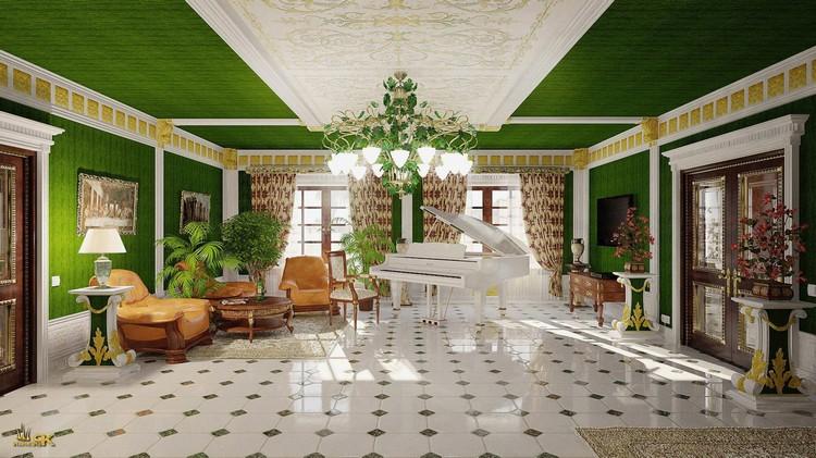 Интерьер гостиной в классическом стиле: особенности оформления (40 фото)