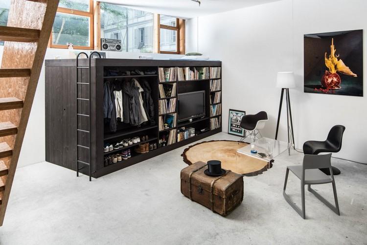 Кровать в гостиной: несколько идей как спрятать мебель в гостиной и гармонично вписать в интерьер (47 фото)