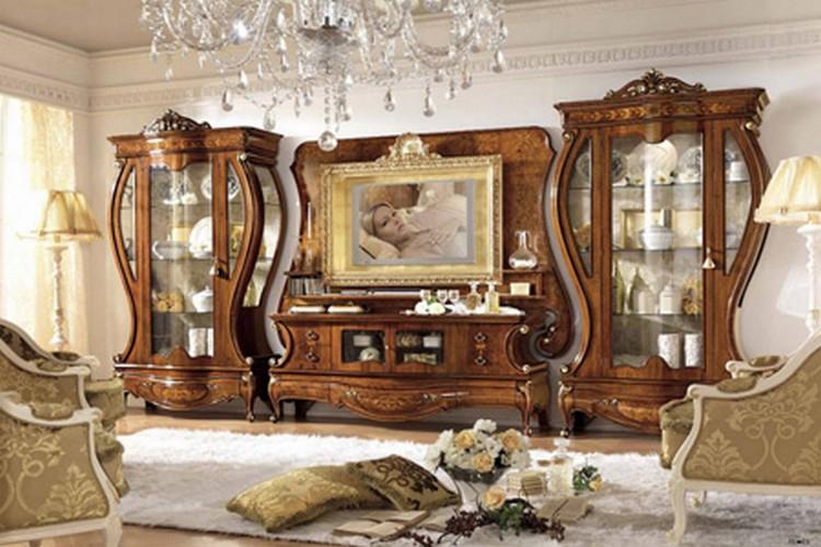 Мебель для гостиной из натурального дерева: сочетание современного технологического прогресса с классическими традициями (35 фото)