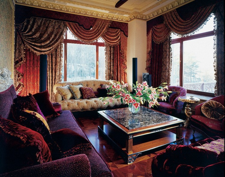 Стиль барокко в интерьере гостиной: великолепный и роскошный дизайн (30 фото)