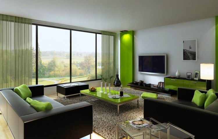 Черный цвет в дизайне гостиной: мрачность или динамичность (46 фото)