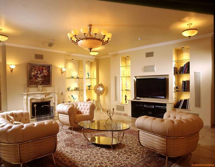 Подсветка гостиной: дополнительное декоративное освещение (25 фото)
