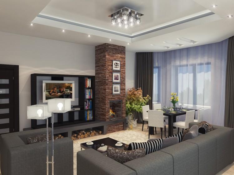 Дизайн квадратной гостиной: интерьер и планировка (40 фото)