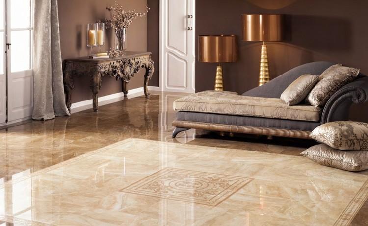 Плитка на полу в гостиной: особенности современного напольного покрытия (40 фото)