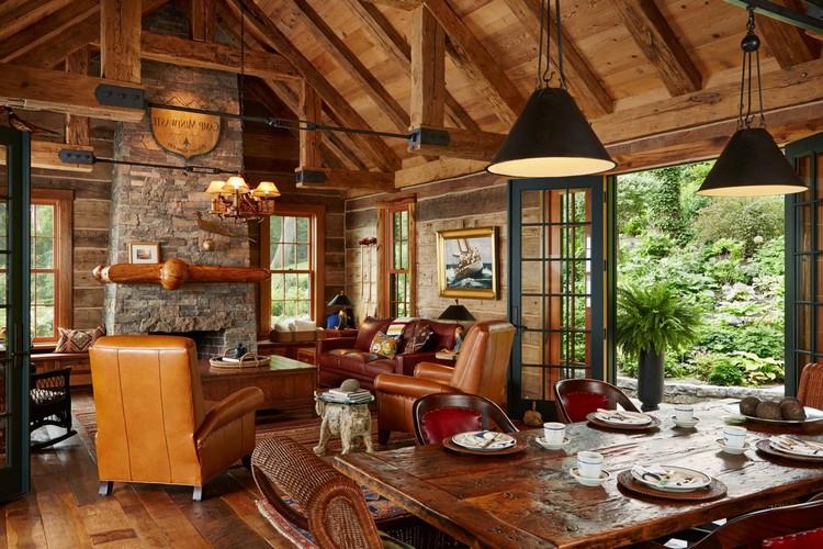 Деревянная гостиная: идеи отделки (35 фото)