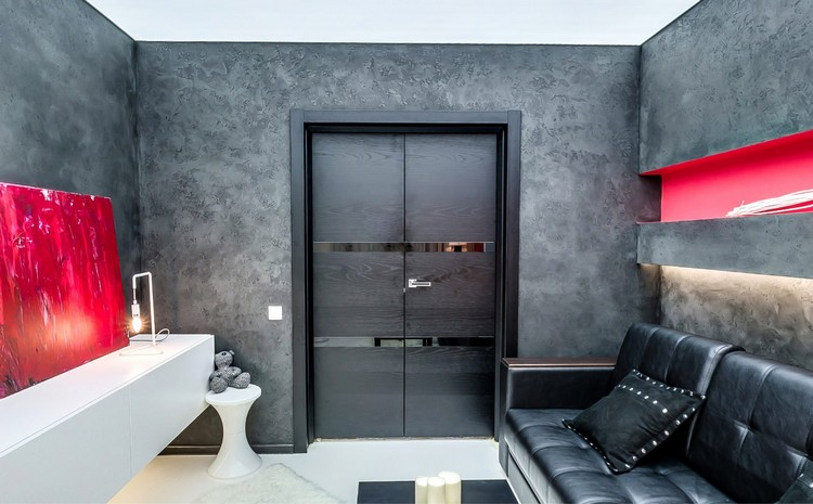 Дверь в гостиной: идеи, дизайн и декор (30 фото)