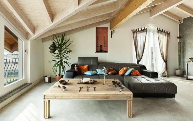 Гостиная на чердаке: дизайн и отделка мансарды с зоной отдыха ( фото)