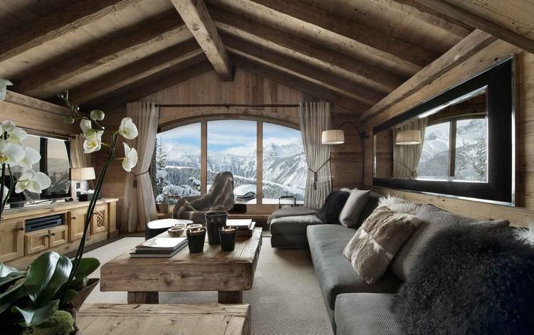Гостиная в стиле Шале: как создать альпийский уют и комфорт (45 фото)