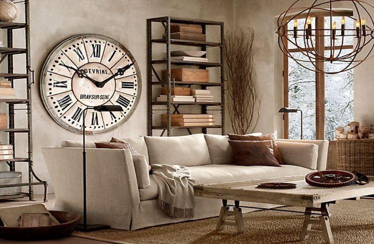Настенные часы в гостиной: как правильно выбрать и повесить (45 фото)