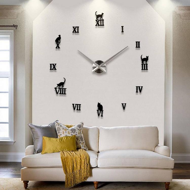 как правильно повесить настенные часы