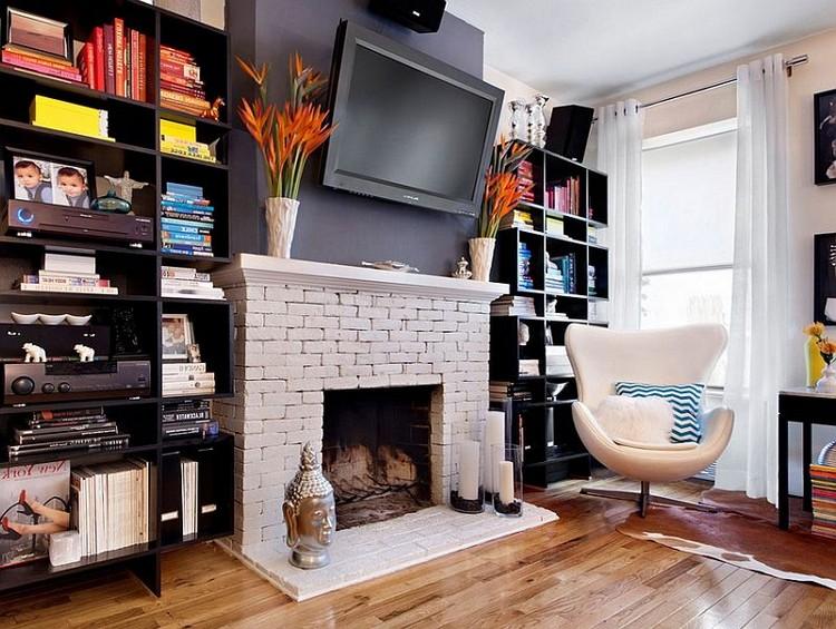 Идеи для хранения вещей в гостиной (40 фото)