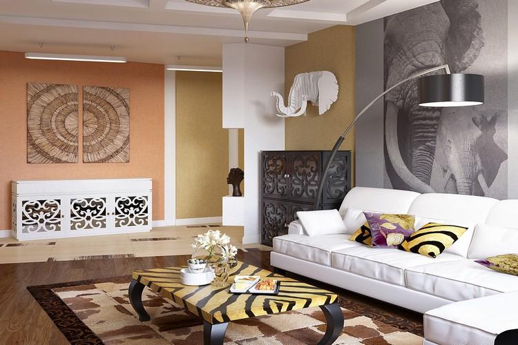Этнический (этно) стиль в интерьере гостиной: национальный колорит в оформлении (45 фото)