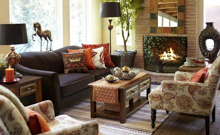 Осенний интерьер гостиной: тематическое украшение своими руками (45 фото)